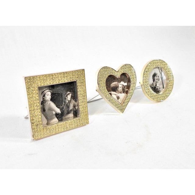 three mini diamond photo frames by milano series image 2 of 9 - Mini Frames