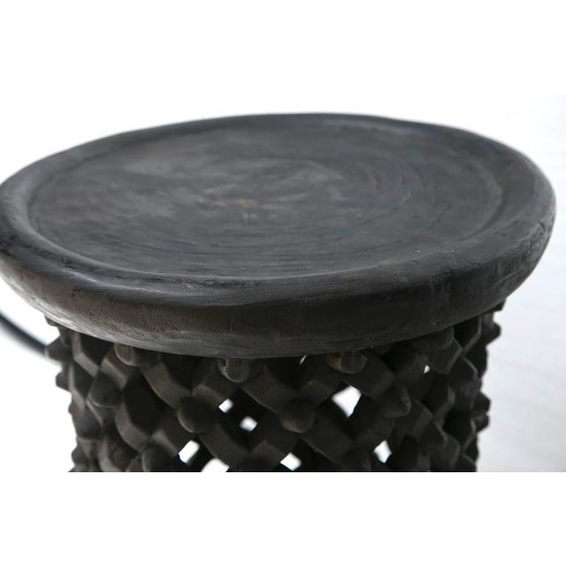 Tall Hand Carved African Cameroon Table - Image 4 of 8