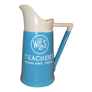 Vintage Teacher's Scotch Pitcher
