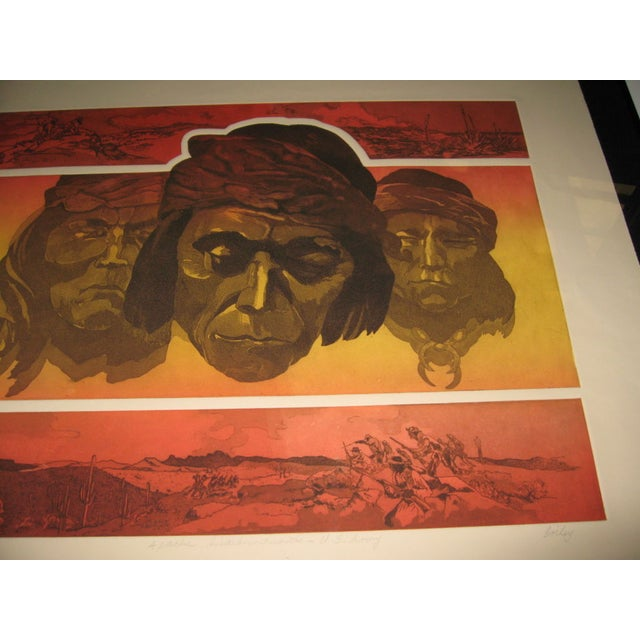 Image of Apache Scout Lithograph by Criley
