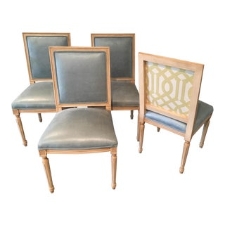 Louis Style Square Back Dining Chairs - Set of 4