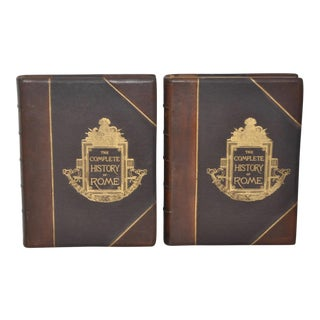 The Complete History of Rome Leather Bound in Two Volumes c.1884