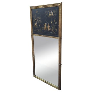 Gold Bamboo Chinoiserie Tromeau Mirror