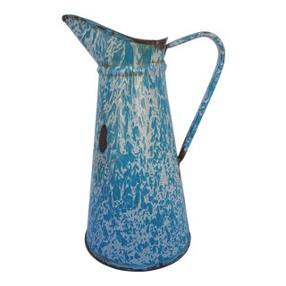 19th Century End Of Day Enamel Pitcher