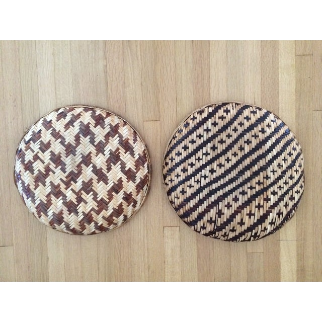 Image of Woven Ethnic Baskets - A Pair