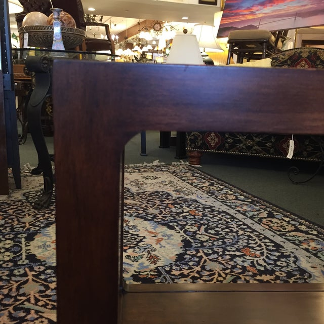 Custom Mirror Topped Side Table - Image 5 of 9