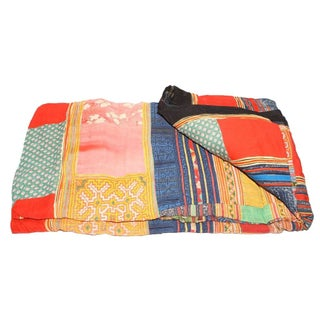 Yellow, Blue & Red Hmong Blanket