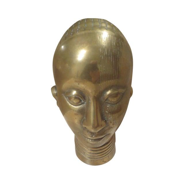 1980 Dolbi Cashier Brass Female Head - Image 1 of 7