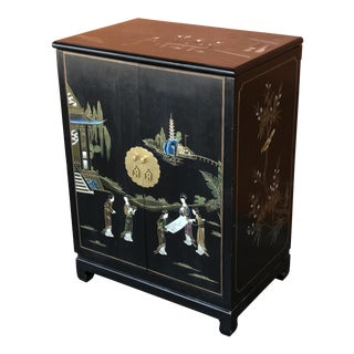 Chinese Lacquer Bar Cabinet