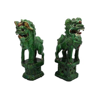 19th-C. Chinese Foo Dogs - Pair