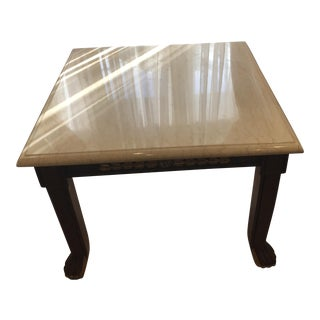 Pair of Marble Coffee Tables With Gold Leaf Designs in Mint Condition
