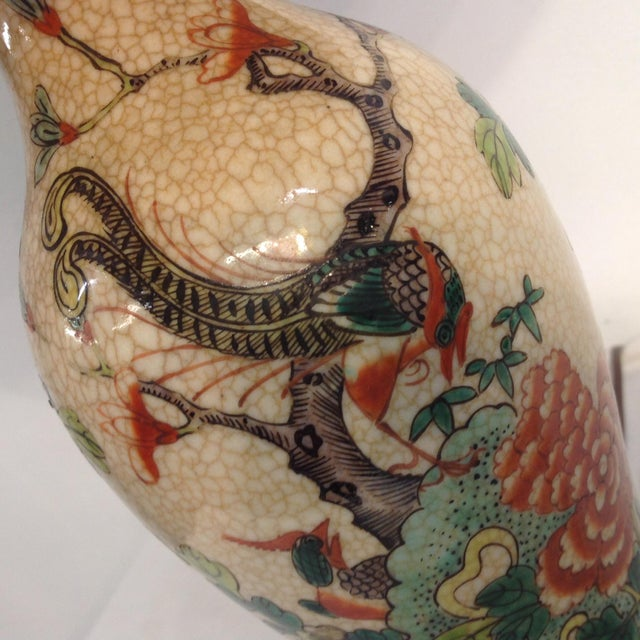 Antique Porcelain Asian Style Table Lamp - Image 7 of 9
