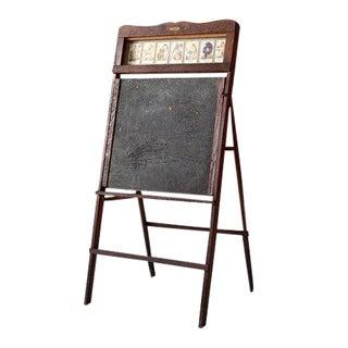 1920s Lithoplate Chalkboard & Art Desk