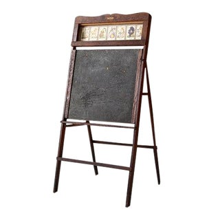 1920s Lithoplate Chalkboard & Art Desk