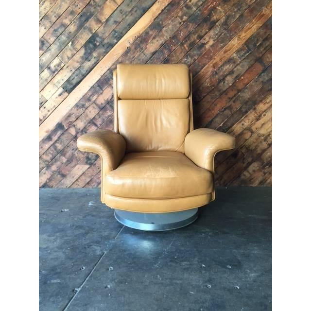 Vintage Milo Baughman Style Leather Chair - Image 2 of 6