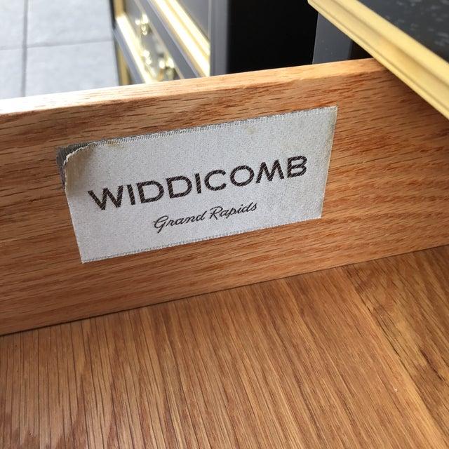 Widdicomb Brass Trim Nightstands - a Pair - Image 8 of 11