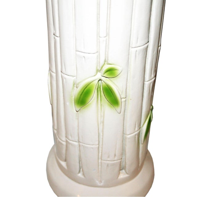 Image of Vintage Faux-Bamboo Ceramic Lamps - A Pair
