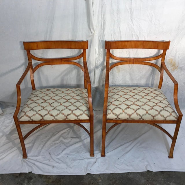 Maitland Smith Tole Armchairs - a Pair - Image 3 of 11