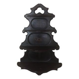 Antique Masonic Freemasonry Wood Shelf