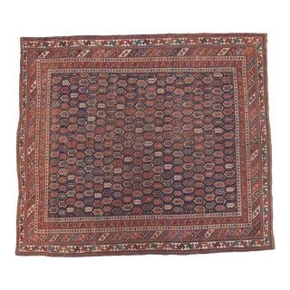 """Antique Afshar Square Carpet - 7'5"""" x 8'7"""""""