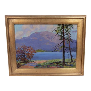 Vintage Impressionist Landscape Painting