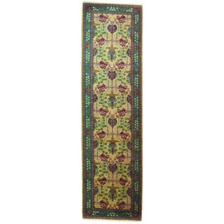"Arts & Crafts Hand Knotted Runner - 2'8"" X 9'9"""