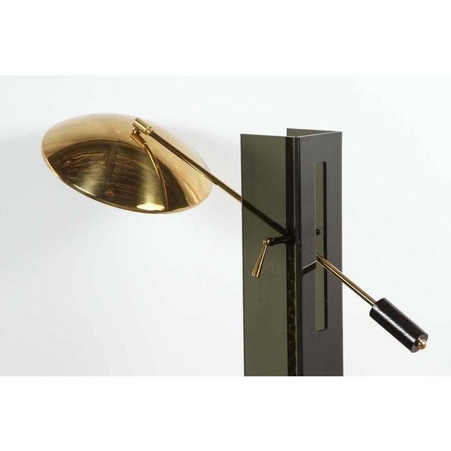 Smoke Acrylic and Brass Mid-Century Floor Lamp - Image 3 of 7