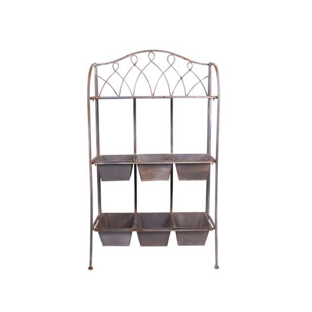 Metal Antique Planter Shelf - Image 1 of 5