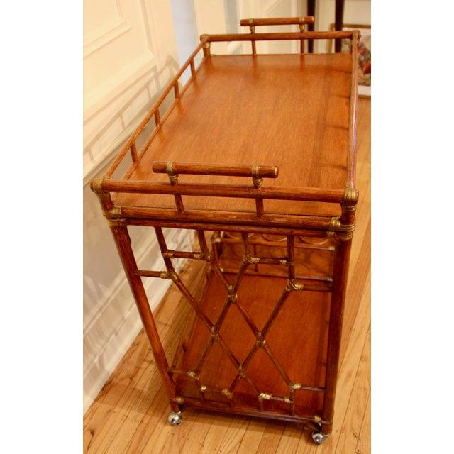 Golden Rattan Bar Cart - Image 8 of 10