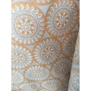 Duralee Medallion Tangerine Fabric - 5 Yards