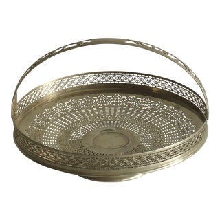 Vintage Reticulated Serving Basket