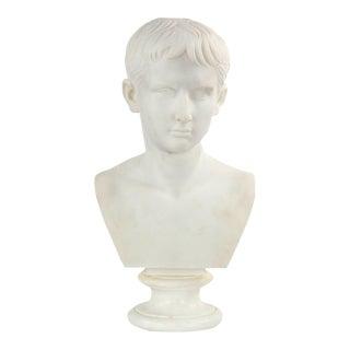 Italian Marble Bust of Caesar Augustus, 19th Century