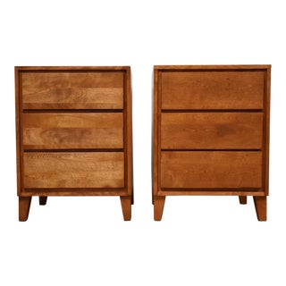 American Modern Conant Ball Nightstands - A Pair
