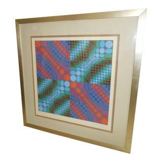 Victor Vasarely Op Art Silkscreen