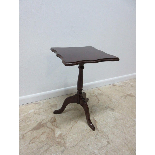 Bombay Company Cherry Lamp End Table Pedestal Stand - Image 2 of 11