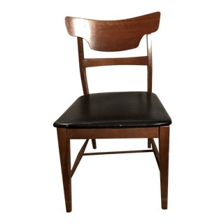 Mid-Century Black Vinyl Chair