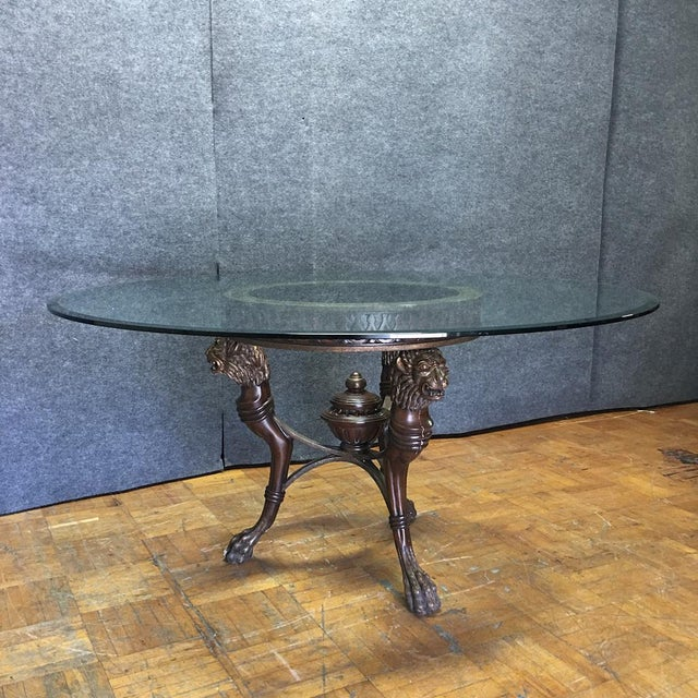 Regency-Style Glass Top Table - Image 2 of 11