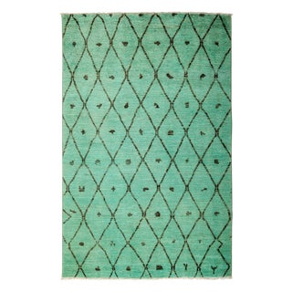 """Moroccan, Hand Knotted Area Rug - 5'1"""" X 8'1"""""""