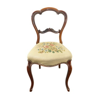French Country Floral Tapestry Chair