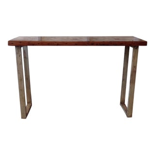 Handmade Redwood Sofa Table