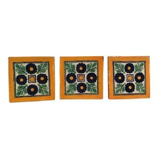 Vintage Terra Cotta Accent Tiles - Set of 3