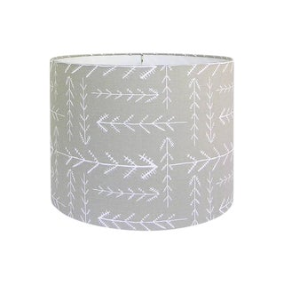 Beige Arrows Fabric Drum Lamp Shade
