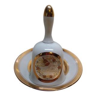 24Kt Gold Chokin Bell & Plate - A Pair
