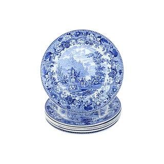 1830s Transferware Dinner Plates - Set of 6