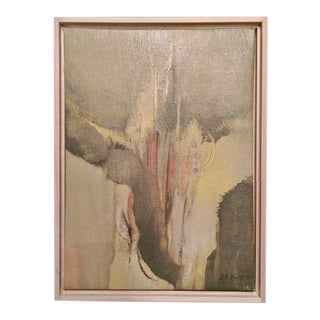 Modernist Abstract Oil on Canvas by D.H. Head 1963