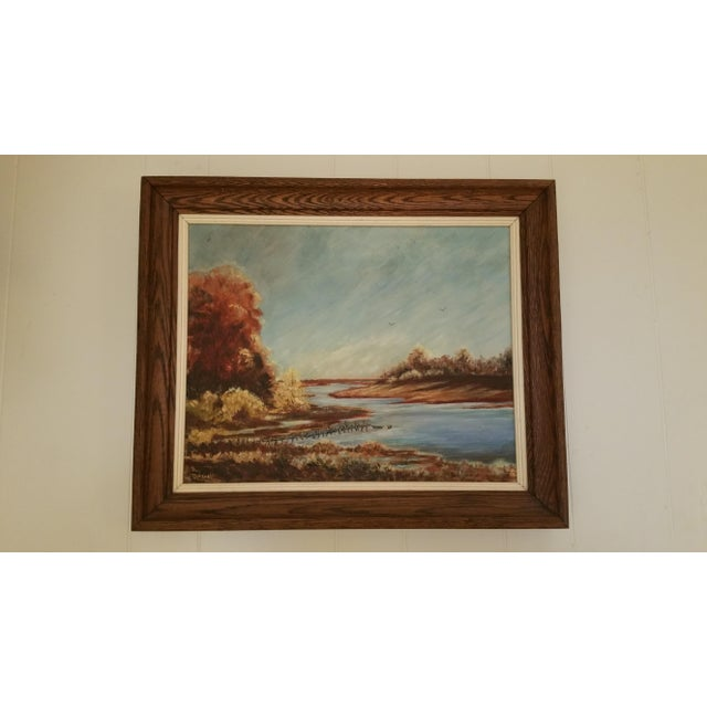 Mid-Century Lake Champlain Landscape Oil Painting - Image 2 of 5