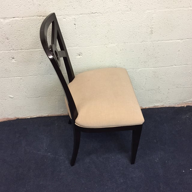 Beige & Espresso Side Chair - Image 3 of 8