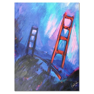 """Golden Gate Leans"" Canvas Print by Kandi Cota"