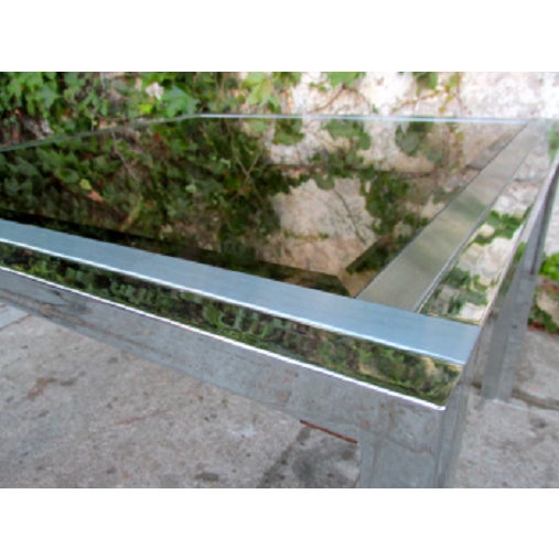 Mid-Century Chrome & Glass Side Table - Image 3 of 4