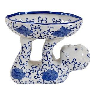 Blue & White Ceramic Monkey Dish